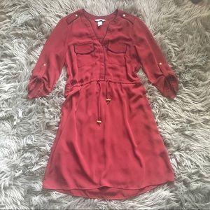 Sporty H&M burgundy dress